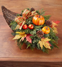 Thanksgiving Traditions Cornucopia Arrangement