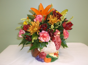 THANKSGIVING TURKEY ARRANGEMENT in Springfield, VT | WOODBURY FLORIST