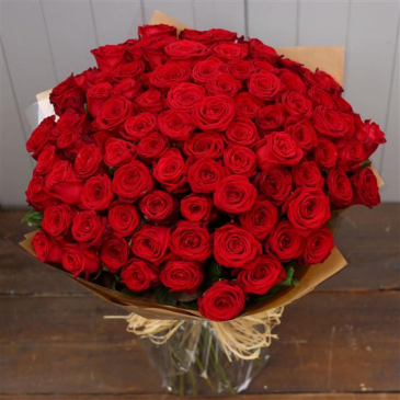 That's A Wrap!!  Wrapped Red Roses!!! Rose Arrangement