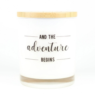 The Adventure Begins Candle