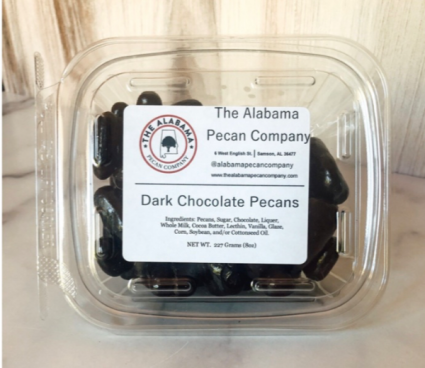The Alabama Pecan Company  Dark Chocolate Covered Pecans 8oz