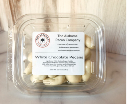 The Alabama Pecan Company  White Chocolate Covered Pecans 8oz