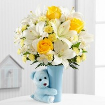The Baby Boy Big Hug Flower Arrangement