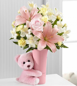 The Baby Girl Big Hug Bouquet in Colorado Springs, CO | FLOWERS TO GO