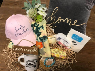 The Beachy Camper Gift Basket