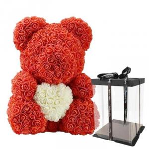 """The Bella Bear Hugging Heart 14"""" Tall Red.  in Bronx, NY   Bella's Flower Shop"""