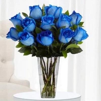 The Blue Love Design Vase Arrangement
