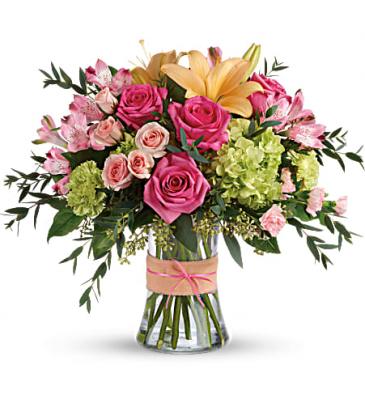 The Blush Life Bouquet PFD-E-195   (TEV56-3)