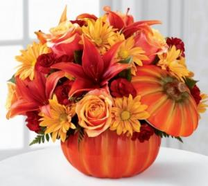 THE BOUNTIFUL BOUQUET Fall Arrangement in Plain City, OH | PLAIN CITY FLORIST