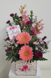 The Box of Love Flower Arrangement