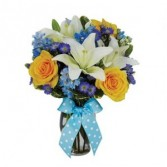 The Bright Blue Skies Bouquet Floral Arrangement