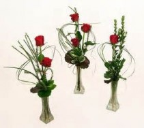 Elite Bud Vase Trio Memorable Moment Bouquets