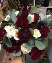 The burgundy bouquet  Wedding Bouquets