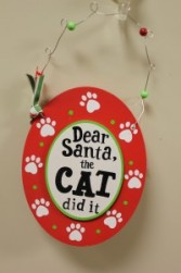 """The Cat Did It"" Ornament"