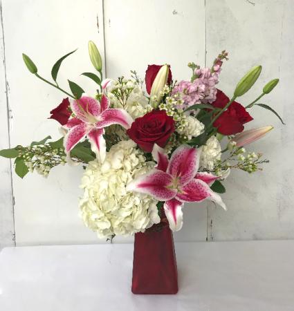 The Charmer fresh Vase Arrangement