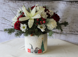 The Christmas Gnomes Whimsical look in Stevensville, MT   WildWind Floral Design Studio
