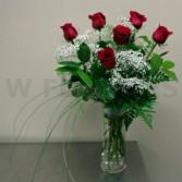 The Classic Half Dozen Roses Arrangement