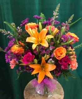 The Colors of Summer Vase in Bristol, VT | Scentsations Flowers & Gifts