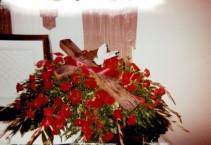 The Cross Bouquet Casket Spray