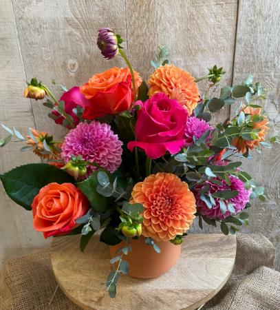 The Dahlia Rose Flower Arrangement