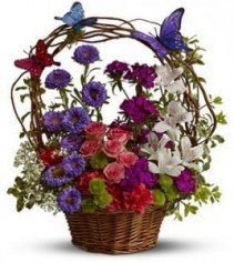 The Dancing Butterflies Basket