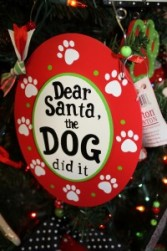 """The Dog Did It"" Ornament"