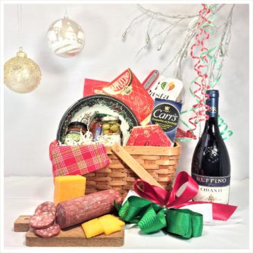 AN ITALIAN CHRISTMAS Gourmet basket with an Italian touch