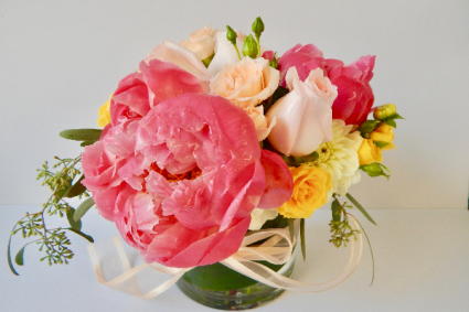 The Enchanted Bouquet Peonies and Roses