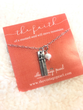 The faith of a mustard seed necklace