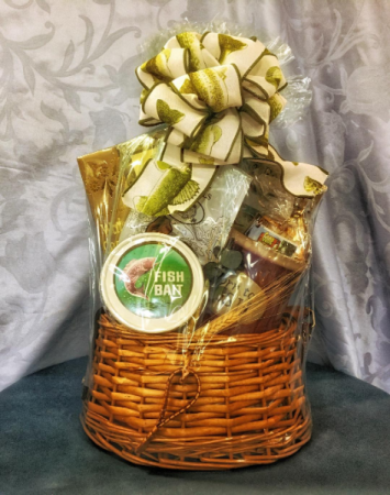 The Fisherman's Fishing Creel Gift Baskets