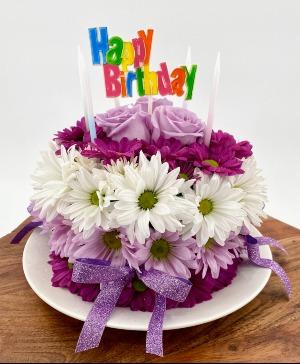 THE FLORAL BIRTHDAY CAKE FRESH FLOWERS in Zanesville, OH | FLORAFINO FLOWER MARKET & GREENHOUSES