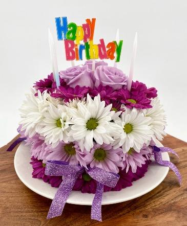 THE FLORAL BIRTHDAY CAKE FRESH FLOWERS