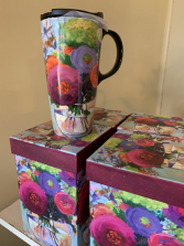 The Flower Shop 17 oz. Ceramic Cup with Decorative Box