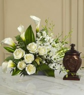 The FTD® At Peace™ Arrangement Cremation Arrangement   (urn not included)