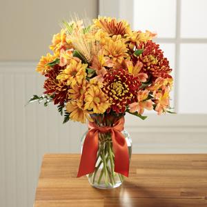 The FTD® Autumn Roads™ Bouquet Bouquet - VASE INCLUDED