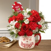 Believe Bouquet Holiday Floral Arrangement