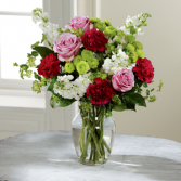 The FTD® Blooming Embrace™ Bouquet C22-5181 Vased Arrangement