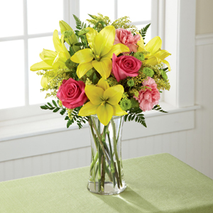 The FTD® Bright & Beautiful™ Bouquet - VASE INCLUDED