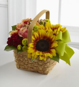 THE FTD® BRIGHT DAY™ BASKET BASKET in Maple Heights, OH | NOVAK'S FLOWER SHOPPE