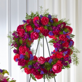 The FTD Calming Colors Wreath
