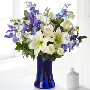 The FTD Calming Comfort Bouquet Vase Arrangement