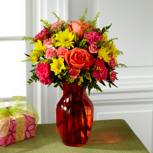 The FTD® Colors Abound™ Bouquet D3-5200 Vase Included