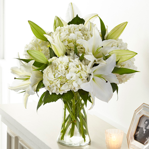 The FTD Compassionate Lily Bouquet Vase Arrangement