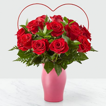 The FTD Cupids Heart Red Rose Bouquet