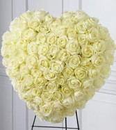 The FTD® Elegant Remembrance™ Standing Heart is an