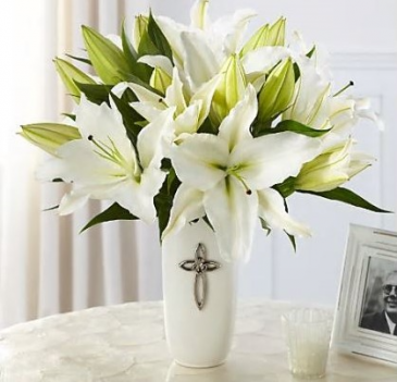 The FTD Faithful Blessings Bouquet Vase Arrangement