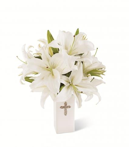 The FTD Faithful Blessings Vase Bouquet