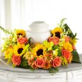 The FTD Faithful Sunflower Cremation Adornment Cremation Adornment