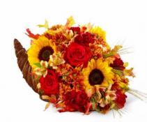 The FTD® Fall Harvest™ Cornucopia Cornucopia arrangement
