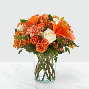 The FTD Falling for Autumn™ Bouquet B45 Vased Arrangement